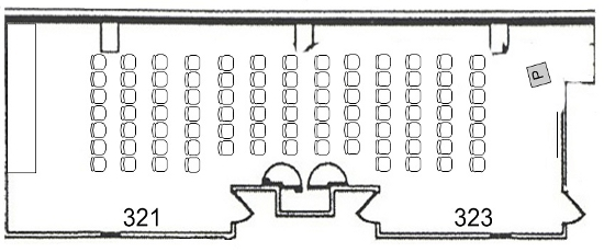 Pryz lecture rooms 321 and 323 layout